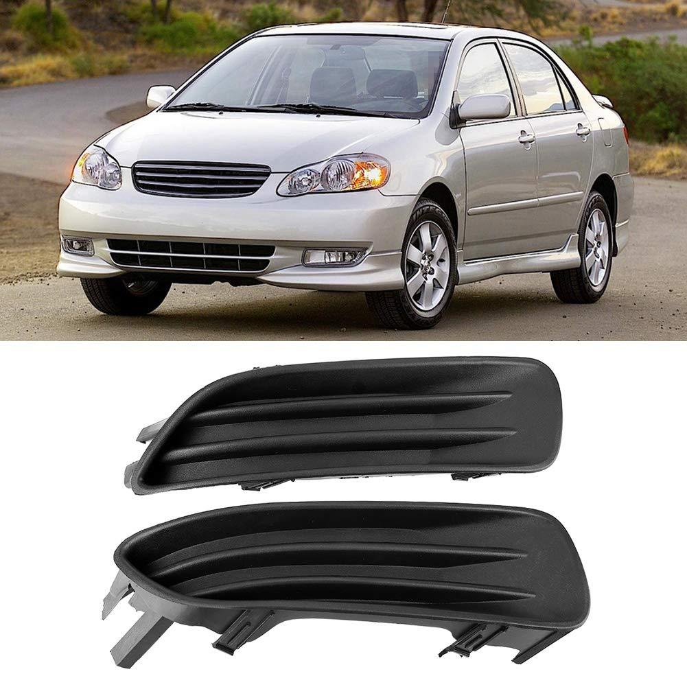 Car Front Fog Lamp Light Frame Covers 5212702070 for TOYOTA COROLLA 2003 2004 KIMISS 1 Pair Plastic Fog Light Cover
