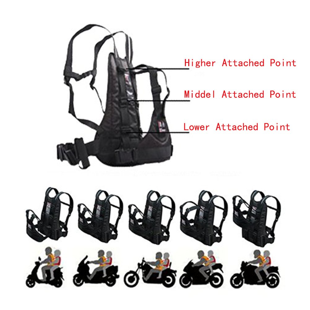 LOLBUY High Strength Childrens Motorcycle Safety Harness Can be Adjusted Up and Down,Black. by LOLBUY (Image #3)