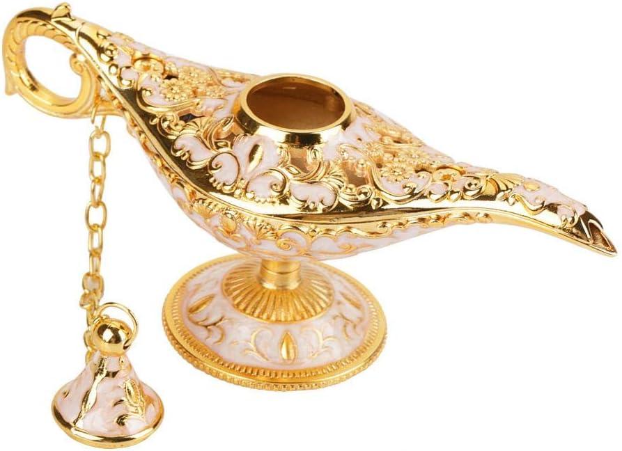 Magical Aladdin Lamp Magic Genie Light Metal Perfect for Decoration Gift Oil Lamp Teapot Sauce Bottles 01 Magic Genial Lamp Luxury Relief Sculpture