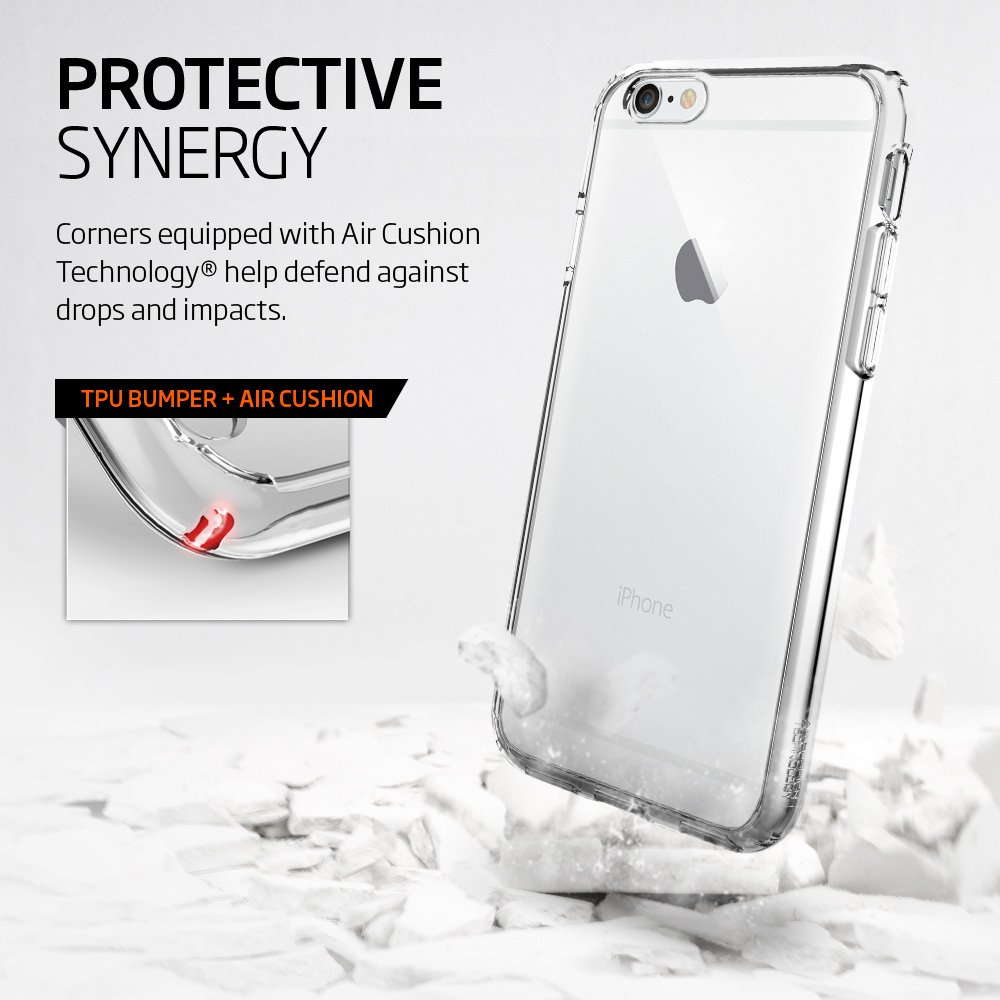 Spigen Ultra Hybrid iPhone 6S Case with Air Cushion Technology and Hybrid Drop Protection for iPhone 6S / iPhone 6 - Crystal Clear by Spigen (Image #5)