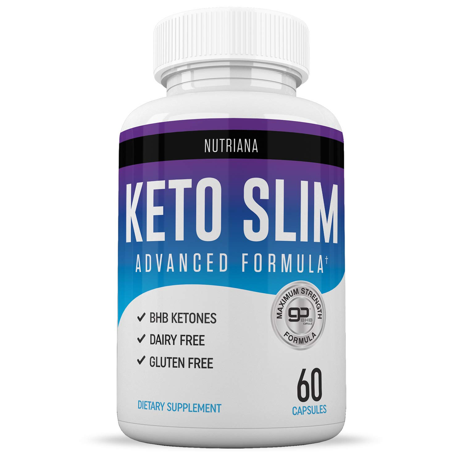 Best Keto Slim Diet Pills | Ketogenic Keto Pills for Women and Men | Ketosis Keto Supplement with BHB Salts for Keto Diet | Exogenous Ketones | Keto Pills 60 Capsules by Nutriana