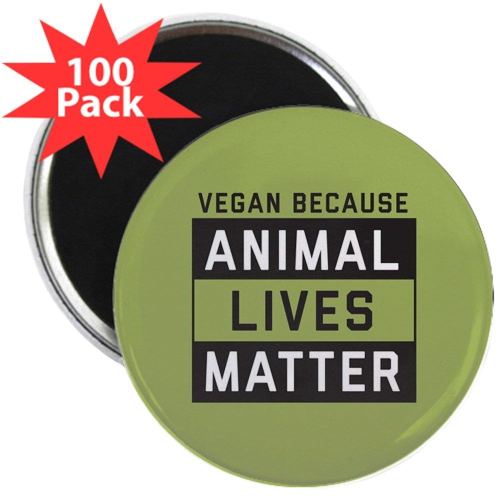 CafePress - Animal Lives Matter - 2.25'' Magnet (100 pack)