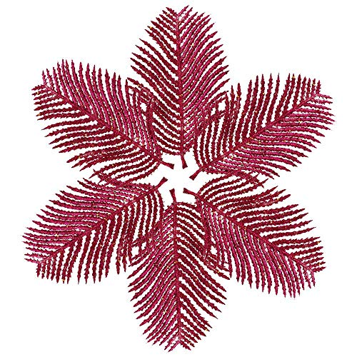 hristmas Flowers,Xmas Tree Wreaths Decor Tree Ornaments Holiday Decorations (hot Pink) ()