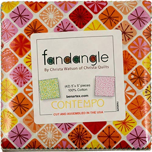 Christa Watson Fandangle 5X5 Pack 42 5-inch Squares Charm Pack Benartex Contempo