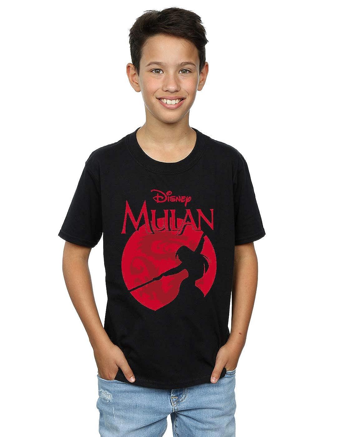 Disney Boys Mulan Dragon Silhouette T-Shirt