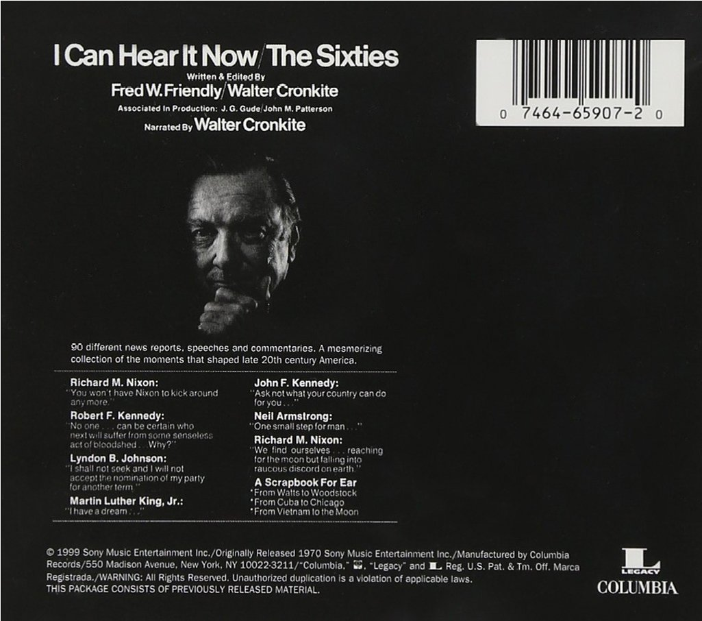 d4c78fd9a Walter Cronkite, Fred Friendly - I Can Hear It Now / The Sixties -  Amazon.com Music