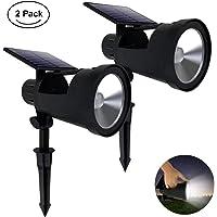 2-Pack Westinghouse 2-in-1 Solar Spotlight Outdoor Portable Flashlight