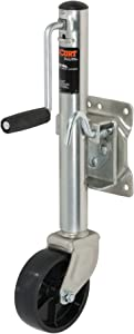 CURT 28112 Marine Boat Trailer Jack with 6-Inch Wheel, 1,200 lbs. 11 Inches Vertical Travel