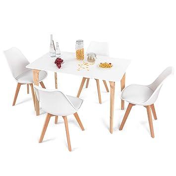 Amazon.com: Giantex - Juego de mesa de comedor (5 piezas ...