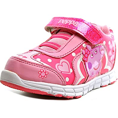 Boys' Shoes Light Up Girls Baby Toddler Glitter Strap Canvas Sneaker Tennis Shoe Pink Purple