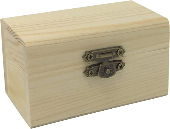 CI Caja Cofre de Madera 9 x 5.5 x 5 cm: Amazon.es: Hogar