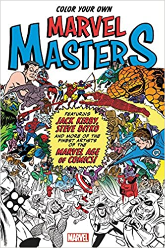 amazoncom color your own marvel masters 9781302902735 marvel comics books - Marvel Coloring Books