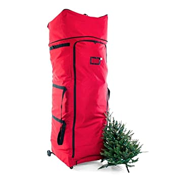 Santa's Bags Upright Christmas Tree Storage Bag w/ Dolly-Style Frame with  Wheels and - Amazon.com: Santa's Bags Upright Christmas Tree Storage Bag W/ Dolly