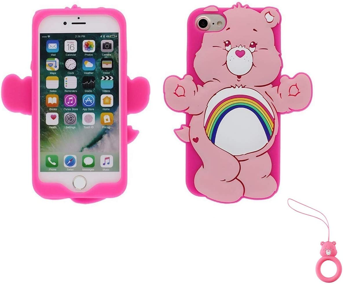 Artbling Case for iPhone 7 8,Silicone 3D Cartoon Animal Cover,Kids Girls Cool Lovely Cute Cases,Kawaii Soft Gel Rubber Unique Character ...