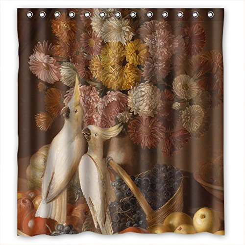 [Monadicase Width X Height / 66 X 72 Inches / W H 168 By 180 Cm Polyester Classic Still Life Art Painting Bathroom Curtains,fabric Is Fit For Bf,boys,wife,boys. Easy] (Storybook Prince Adult Mens Costumes)