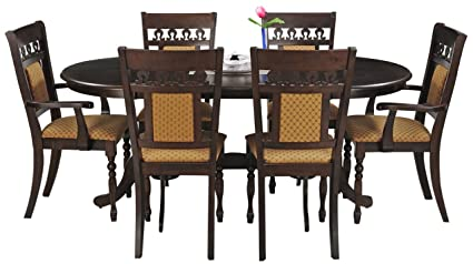 Royal Oak Angel Six Seater Dining Table Set (Walnut)