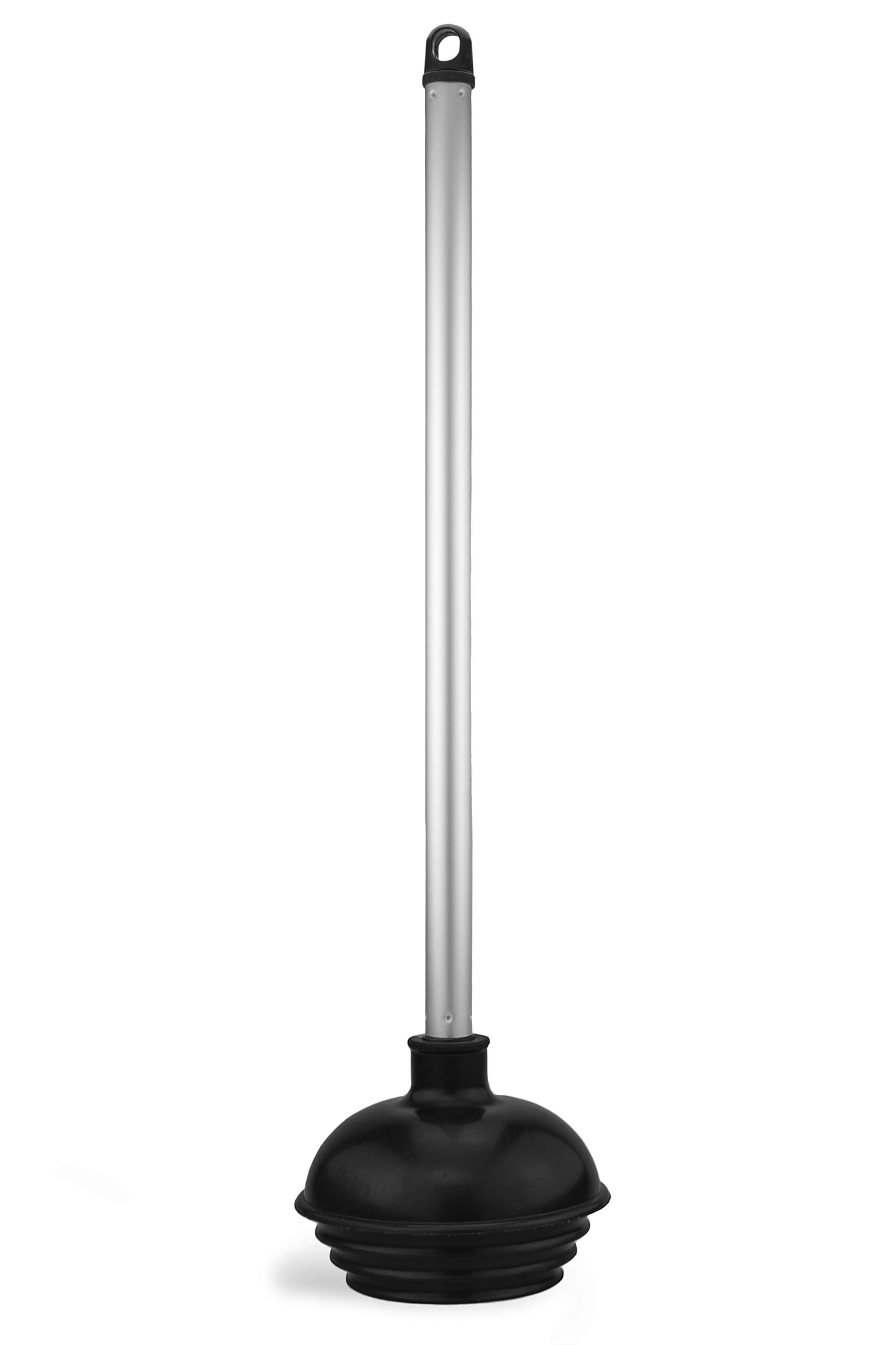 Neiko 60166A Toilet Plunger with Patented All-Angle Design | Heavy Duty | Aluminum Handle , Black
