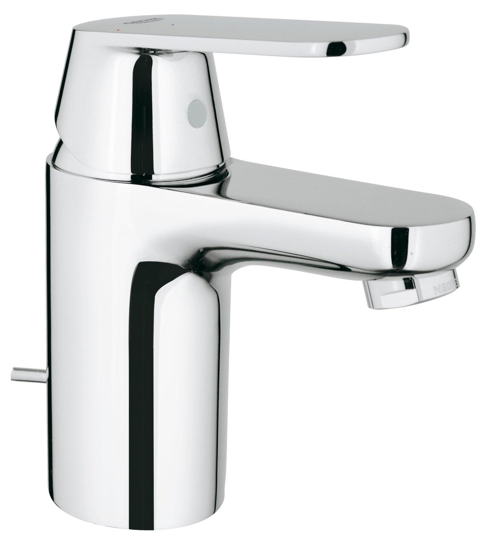 Grohe 32830000 Eurosmart Cosmopolitan Monomando de lavabo 1//2 Tama/ño L con vaciador autom/ático