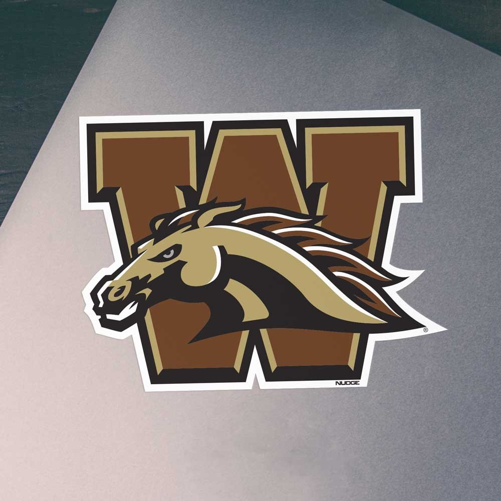 Nudge Printing Western Michigan University WMU W Bronco Head Car Decal Bumper Sticker Laptop Sticker