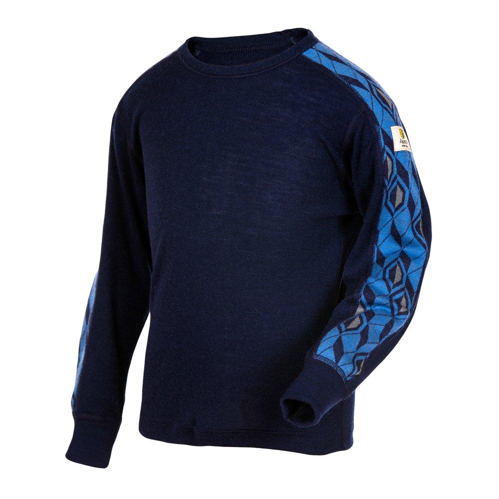 Janus Merino Wool Kids Boys Girls T-Shirt Long Sleeve Machine Washable Made in Norway.