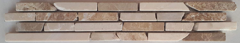 Frise mosa/ïque en pierre naturelle en forme demperador espagnol et de marbre de marbre de 30 x 5,4 cm