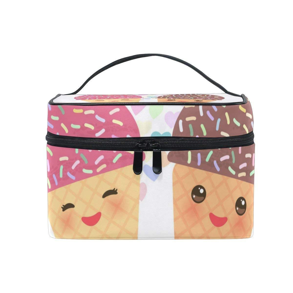 Makeup Bag I Love You Cream Mens Travel Toiletry Bag Mens Cosmetic Bags for Women Fun Large Makeup Organizer