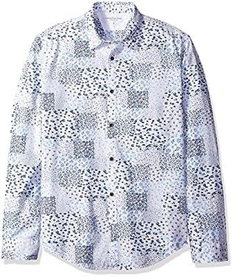 Calvin Klein Jeans Men's Long Sleeve Botanical Print Button Down Shirt