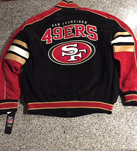 San Francisco 49ers Suede Leather Jacket Niners jacket NFL apparel (San Francisco Leather Jackets)