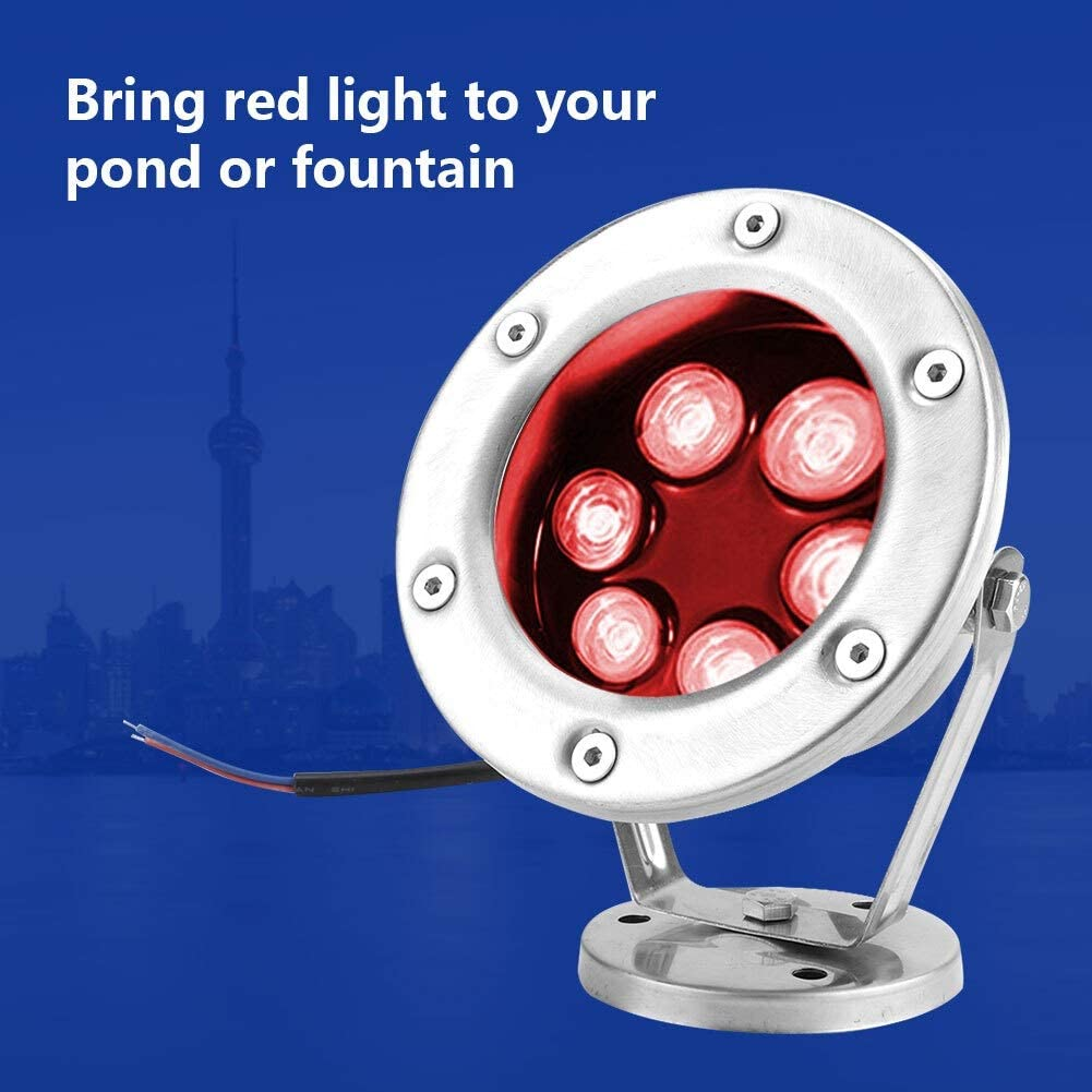 MAGT Led Underwater Light RGB Red Color Outdoor Fountain Spotlight 3W//9W//12W//15W//18W//24W with Rotation of 180/° Size : 9W Fountain Lamp