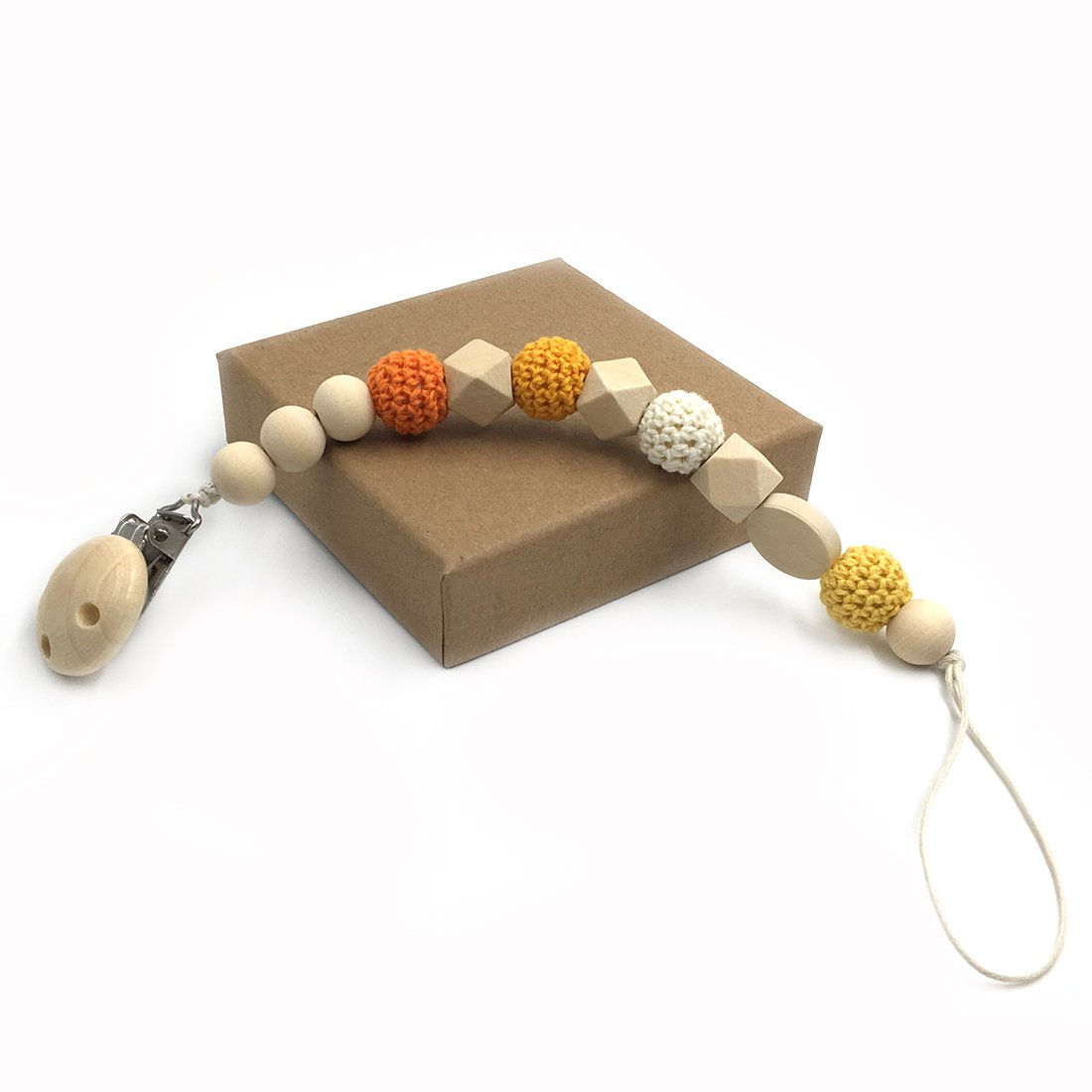 coskiss Infermieristica geométrica de madera Teether Crochet ...