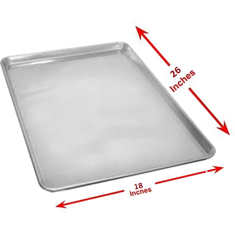Aluminum Sheet Pan (Set of 12), Baking Pans, Full Size Commercial Baker 1 Dozen 18 x 26 Inches by Culinary Depot
