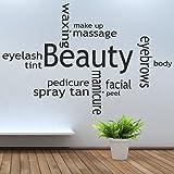 Iclobber Beauty Salon Collage Spray Tan Nail Polish Wall Art Mural