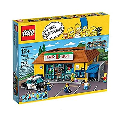 LEGO The Simpsons The Kwik-E-Mart Includes 6 Mini Figures with Assorted Accessory Elements: Toys & Games