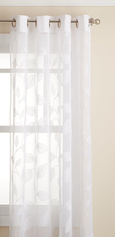 Lorraine Home Fashions Avery Window Curtain Panel, 53 inch x 95 inch, White