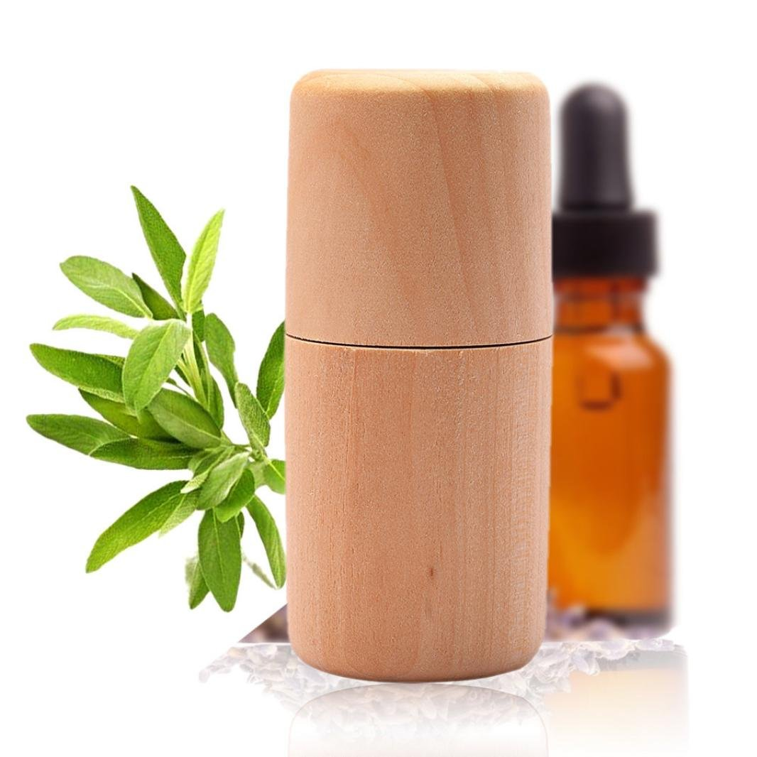 HP95 Wood Essential Oils Storage, Polish Aromatherapy Essential Oil Bottle Box Wooden Container