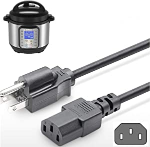 5 Ft Power Cord for Instant Pot DUO Mini,DUO Plus Mini,DUO PLUS MINI,DUO60,DUO Plus60,DUO50,Smart 60 Bluetooth,Ultra 6 60 and Others Pressure Cooker Power Cord for NEMA 5-15P to IEC320C13 Cable