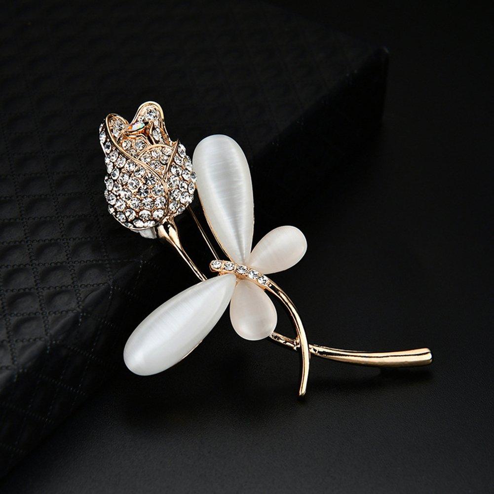 ELLAAO Broche Broche pour Femmes Corsage pour Costume Chemise Chandail Broche Broche Dos /Émail Broche Libellule Fleur
