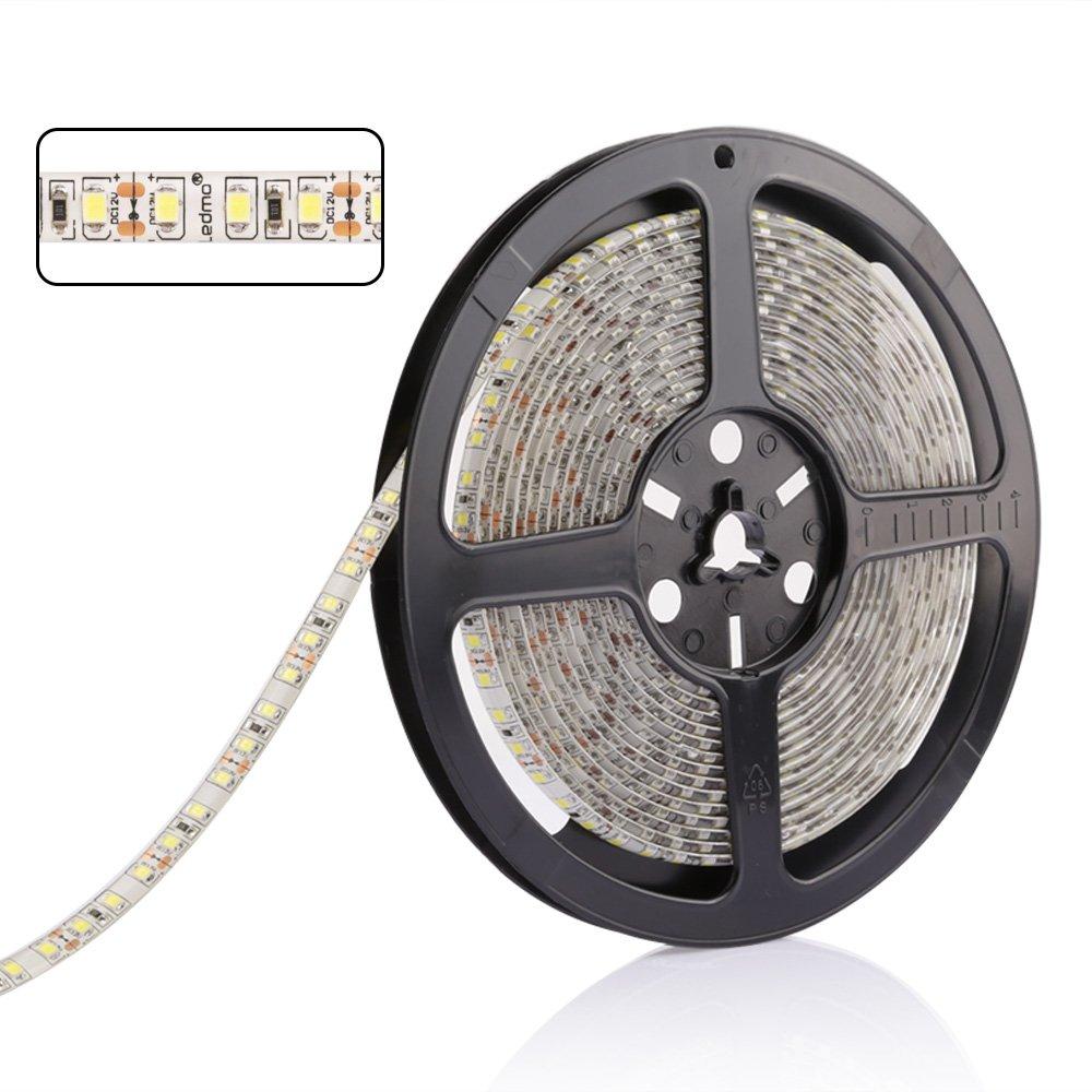 LEDMO Waterproof SMD2835 15lm CRI80 600 LED Strip Light, White (6000K) by LEDMO (Image #4)