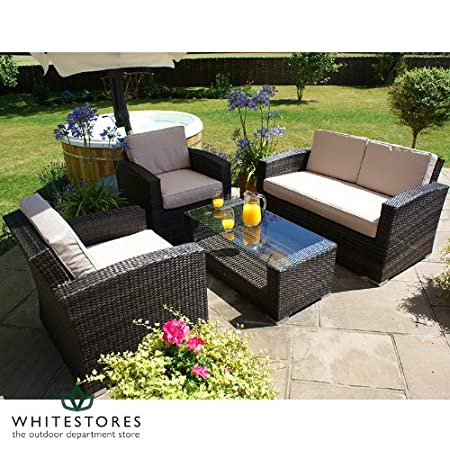 Garden Furniture Algarve Rattan garden furniture algarve high back rattan garden sofa set rattan garden furniture algarve high back rattan garden sofa set brown workwithnaturefo