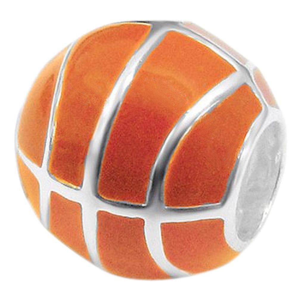 So Chic Joyas© Charm balón baloncesto naranja plata 925 ...