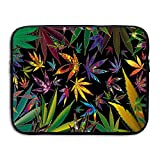 Trippy Multi Pot Weed Leaves Laptop Sleeve Egiant Waterproof Protective Fabric Notebook Bag Case 13 Inch