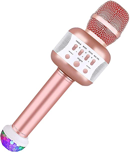 aoory Micrófono Inalámbrico Bluetooth, Micrófono Portátil Karaoke ...