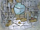 Piet Mondrian Poster Adhesive Photo Wallpaper - Still Life With Ginger Jar, 1912, 2 Parts (95 x 71 inches)