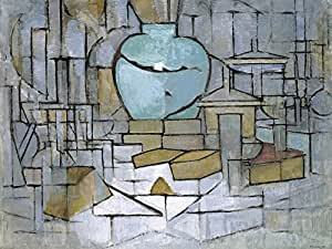 Piet Mondrian Poster Photo Wallpaper - Still Life With Ginger Jar, 1912, 2 Parts (95 x 71 inches)