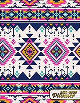 Amazon.com: 2019-2020 planner: Nifty Aztec Tribal Boho Daily ...
