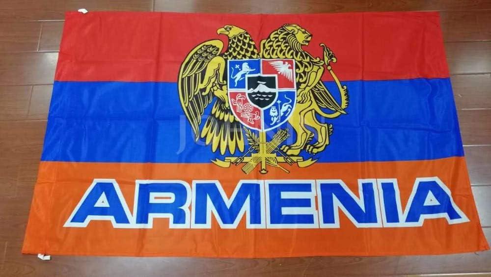 90 x 150cm SSJIA Orgullo Bandera Orgullo Decoraciones Orgullo empavesado 90x150cm Armenia Emblema Nacional Bandera