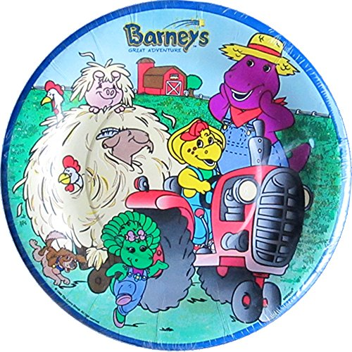 Barney Vintage 'Great Adventure' Small Paper Plates (8ct)