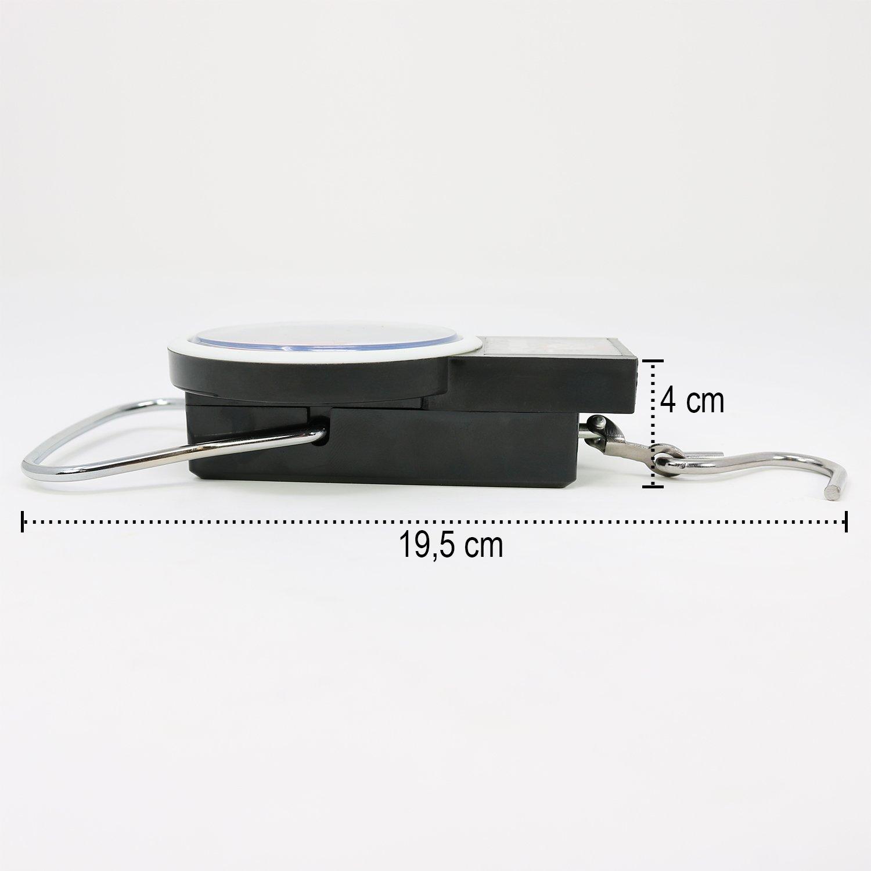 01 pi/èce - 32 kg V3 p/èse-Bagages avec m/ètre Ruban com-four/® P/èse-Bagages jusqu/à 32 kg avec Affichage analogique 19,5 x 7,5 cm