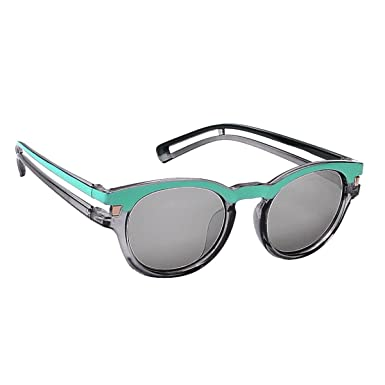 6ced276683 Hawai Chic UV Protected Silver Rimmed Round Sunglass for Women  Amazon.in   Clothing   Accessories