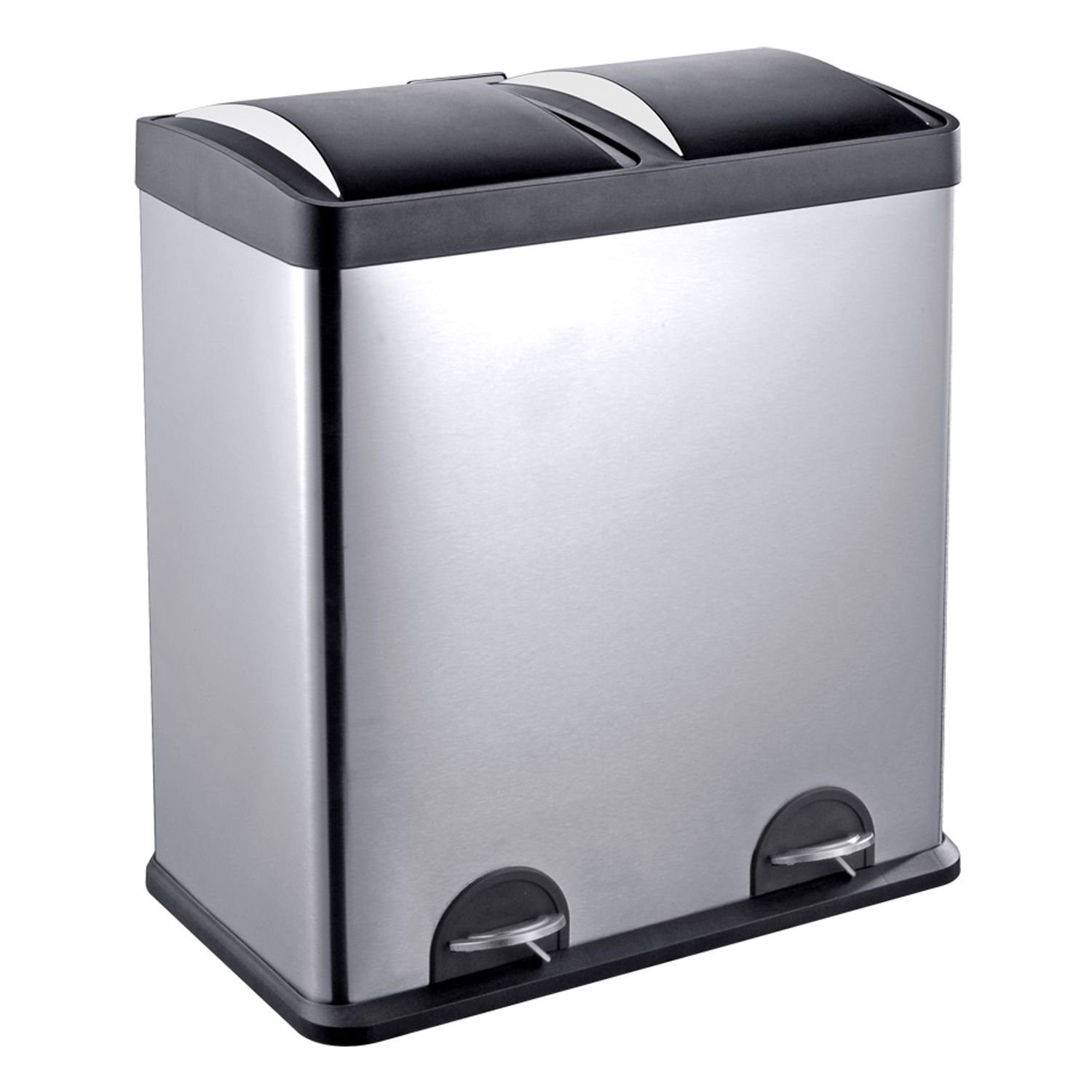 Recycle containers for home use -  Trash And Recycling Bin Hands Free Step Pedals Are An Ideal Home Or Office Storage Solution Use The Removable Inner Bins To Sort Garbage Recyclables